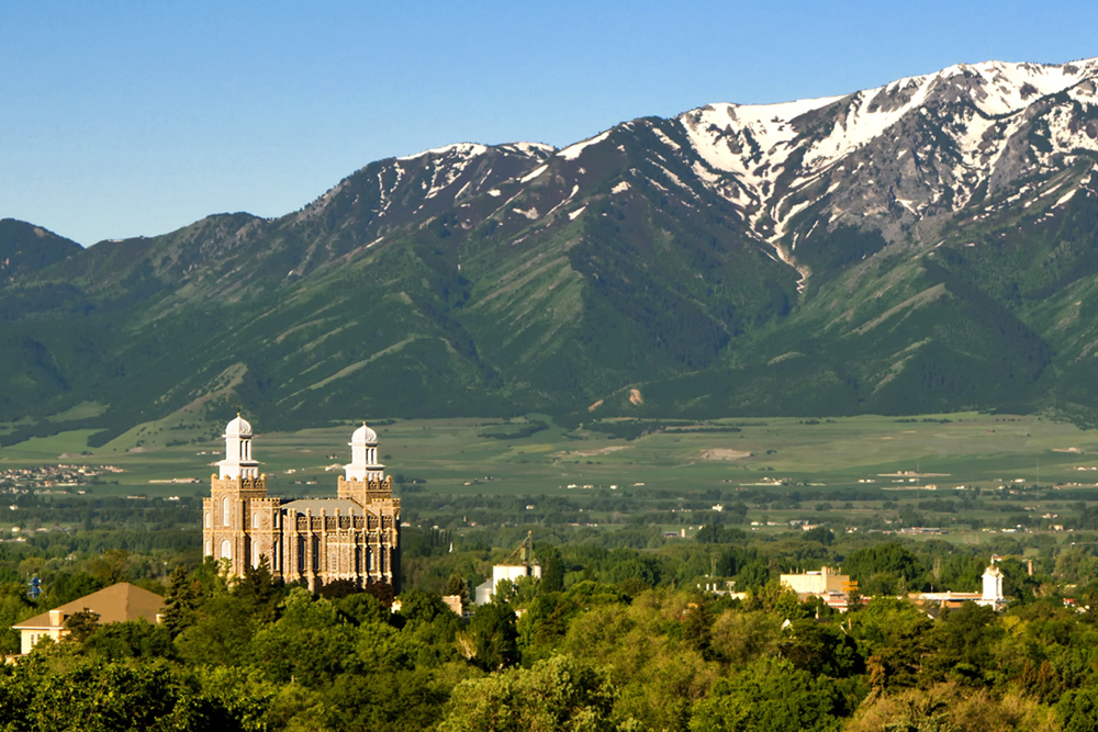photographyTour/Logan Temple - 4X6 - 2165 72 dpi.jpg, Early spring in Cache Valley
